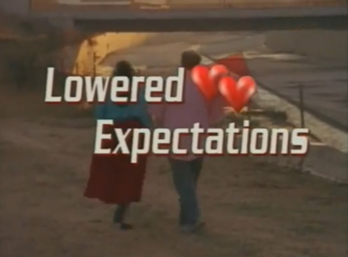 Lowered expectations and dating